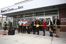 Barrette Center for the Arts Ribbon Cutting Ceremony Left to Right: Eric Bunge, Stuart Johnson, Janet Miller Haines, Cynthia Barrette, Ray Barrette, Linda Roesch, Carol Dunne, Jim Pulver Copyright 2015 Rob Strong