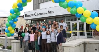 Northern Stage's Staff welcomes you to the Barrette Center for the Arts. October 10, 2015. Copyright 2015 Rob Strong